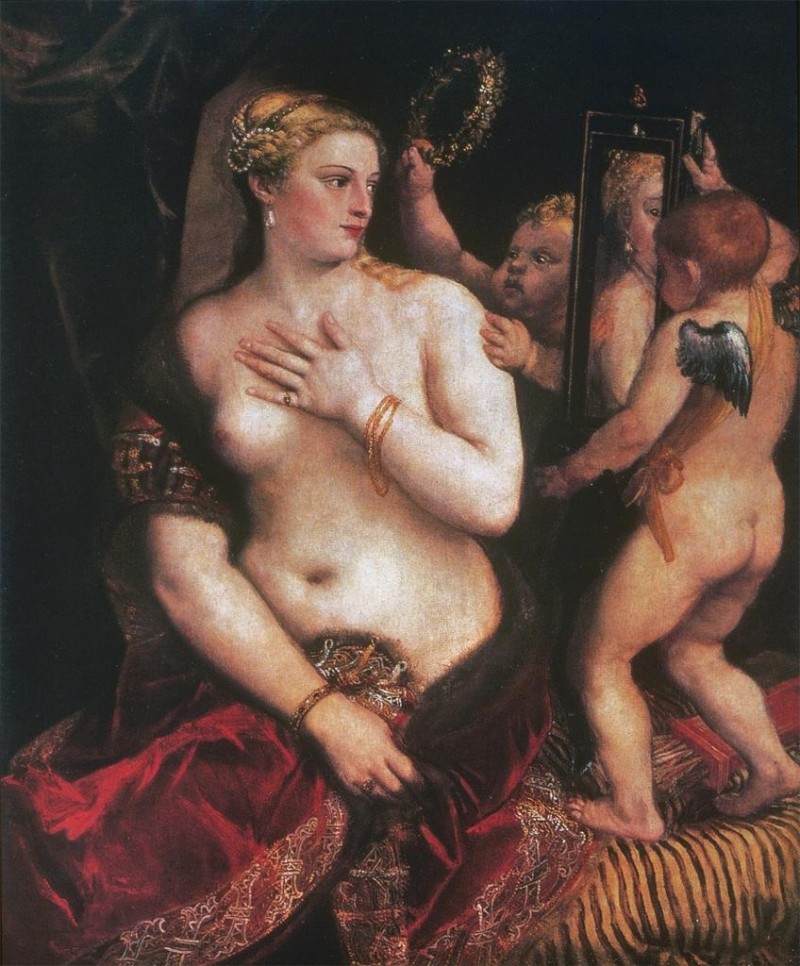 titian venus with a mirror